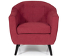 Sydney Red Upholstered Tub Chair