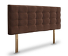 Bluebell Faux Leather and Suede Upholstered Headboard small single size - 2ft 6 60cm standard height milano faux leather black