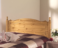 Boston Pine Wooden Headboard small single size - 2ft 6 antique finish