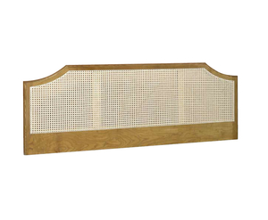 Brighton Rattan Headboard single size - 3ft wooden finish windsor oak finish