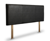 Foxglove Faux Leather and Suede Upholstered Headboard small single size - 2ft 6 60cm standard height milano faux leather black