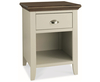 Hampstead Soft Grey and Walnut 1 Drawer Nightstand