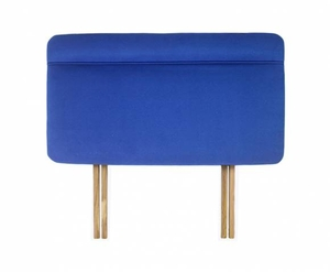 Katie 4ft 6 Midnight Blue Velour Upholstered Headboard *Special Offer*