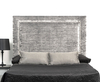 Lennox 4ft 6 Silver Velvet Upholstered Headboard *Special Offer* double size - 4ft 6 crushed velvet silver wall mounted fixings
