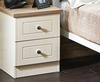 Levante Two-Tone 2 Drawer Bedside Chest wooden finish cream ash carcass