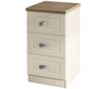 Levante Two-Tone 3 Drawer Bedside Chest cream ash carcass