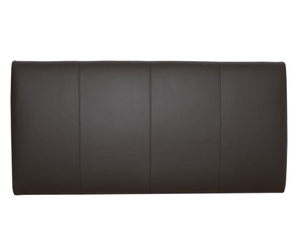 Murano 4ft Brown Full-Hide Leather Headboard *Special Offer* small double size - 4ft brown finish