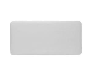 New Madison Faux Leather and Suede Headboard small single size - 2ft 6 faux leather white struts