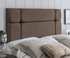 Pavia Faux Suede Headboard small single size - 2ft 6 faux suede chocolate wall mounted fixings