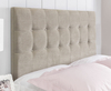 Ravello Faux Suede Headboard small single size - 2ft 6 faux suede cream wall mounted fixings