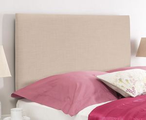 Headboards  - Taurus Grand Upholstered Headboard small single size - 2ft 6 gem beige wall mounted fixings