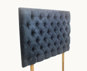 Headboards  - Tiffany 3ft Navy Upholstered Headboard *Special Offer* single size - 3ft shetland navy headboard with struts