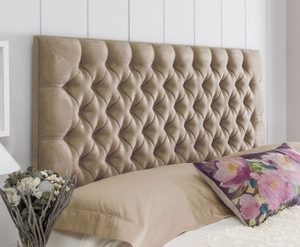 Headboards  - Tiffany 4ft6 Faux Suede Cream Headboard *Special Offer* double size - 4ft 6 faux suede cream headboard with struts