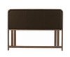 Tonino 5ft Walnut and Brown Faux Leather Headboard *Special Offer* king size - 5ft