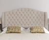 Venice Faux Suede Floor Standing Headboard small single size - 2ft 6 faux suede cream