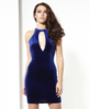 NaaNaa Taylor Velvet Plunge Mini Dress With Strappy Back