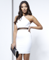 Dresses|Playsuits  - Selena Bodycon Mini Dress with Mesh Strap Detail