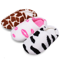 Cases & Bags|Slippers|Slippers & Clogs  - Cute Milk Cow Cotton Shoes Lovers Home Slippers