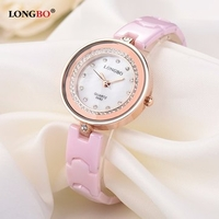 Pendants & Lockets|Womens  - LONGBO Women Watch Alloy Ceramics Rhinestone Simple Watch