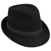 Men Women Woolen British Gentleman Solid Brimmed Jazz Cap