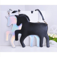 Handbags|Rucksacks  - Rowky Horse Clutch Women Crossbody Bag PU Messengers Bags Solid Zipper Sling Bag