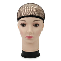 Face Cleansing|Wigs|Hair Styling Equipment  - Stretchable Elastic Wig Cap Hairnets Nylon Mesh Liner Weaving Black Hair Nets