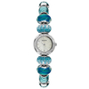 Jewellery Ladies Accurist Charmed turquoise crystal charm bracelet watch LB1410.00