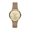 Jewellery Ladies Armani Exchange metallic letter dial watch AX4506
