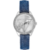 Jewellery Ladies Guess denim strap watch W0456L1