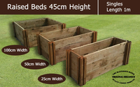 Eco Products  - 45cm High Single Raised Beds - Blackdown Range - 50cm Wide