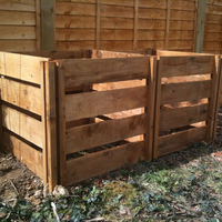 Garden  - 800 Blackdown Range Double Slotted Wooden Composter