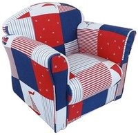 High Chairs  - Mini Armchair Blue Patchwork