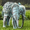 Other Garden Equipment & Decoration Metal Silhouette Elephant Solar-powered Light - Dual Function Led