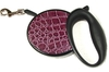 Leads & Harnesses Burgundy Croc Retractable Lead