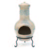85cm Pale Beige Clay Terracotta Chiminea