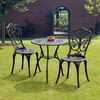 Garden Furniture Sussex Black Cast Aluminium Bistro Set