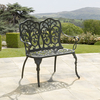 Garden Furniture Sussex Black Cast Aluminium Garden Bench