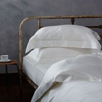 Luxury Mulberry Silk Bed Linen - Double Fitted Sheet - Ivory