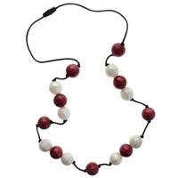 Rattles, Teething Rings etc.  - Gumigem Teething Necklace - Gumibeads - Cranberry
