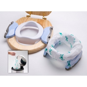 Potties & potty trainers  - Potette Plus 2-in-1 Baby Travel Potty - White/Blue