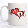 Be My Valentine 2 Heart Photo Mug