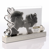 Wedding  - Engraved Five Hearts Photo Frame