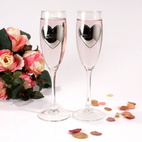 Wedding  - Engraved Heart Goblets