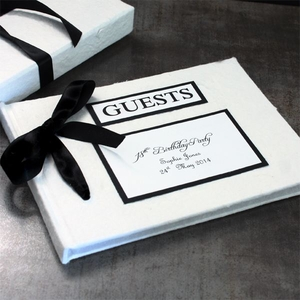 Birthday  - Personalised Handmade Guest Book