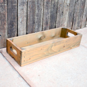 Christmas  - Crate 1 Slat - 53 x 18 x 9cm Whitewash