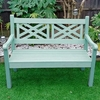 Salcombe 2 Seater Zero Maintenace Bench - Duck Egg Green