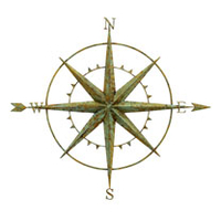 Garden Plants & Bushes  - Wall Compass