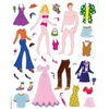 A Sheet of Fashion Doll Stickers