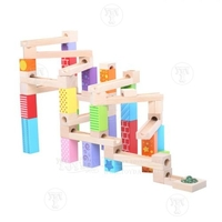 Toys & Games  - Wooden 53 Piece Marble Run