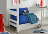Beds Modena White Chair Bed Including Blue Futon Mattress